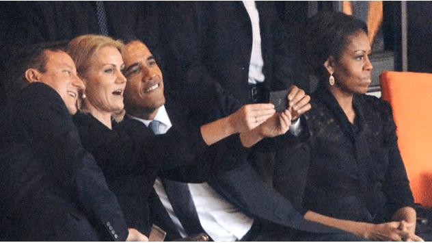 селфи Обама