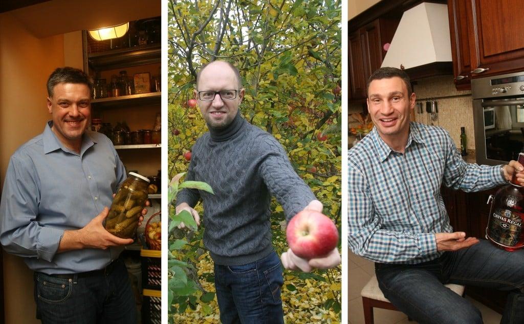 побывали в гостях у Олега Тягнибока, Арсения Яценюка и Виталия Кличко