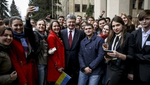 Президент Порошенко со студентами