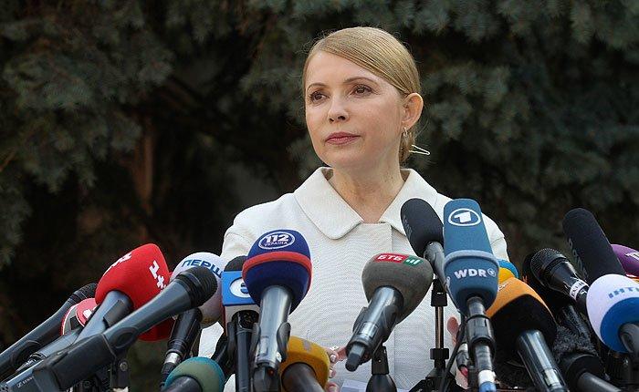Пресс-конференция Юлии Тимошенко