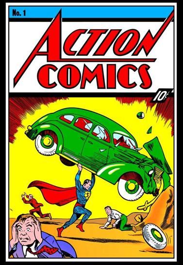 Первое появление Супермена в комикса